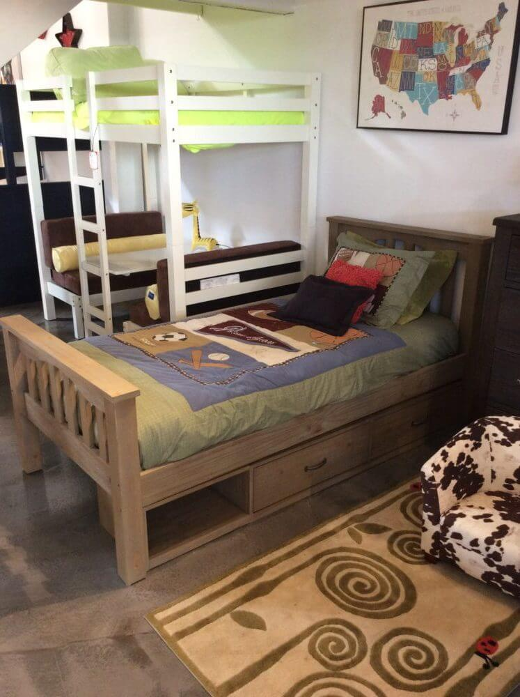 kenwood rustic twin bed in driftwood finish
