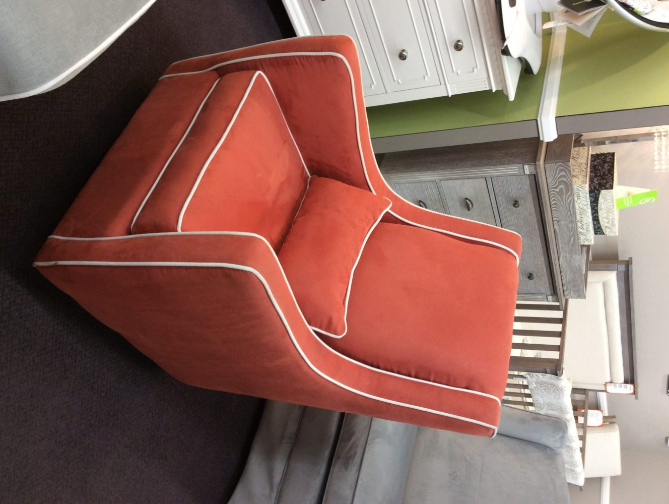 Little Castle Orange Swivel Glider