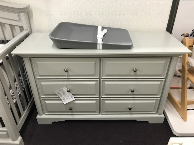 venice double dresser in grey