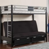 CM-BK1024 twin metal bunk with futon
