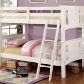 CM-BK602T-WH twin over twin white bunk bed