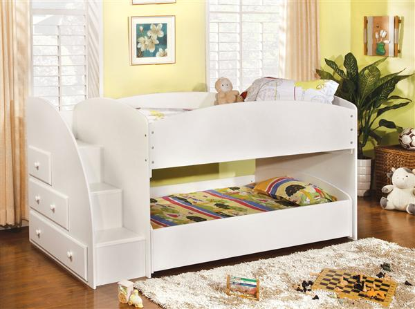 Merrick Low Bunk Bed W Stairs Kids Furniture In Los Angeles