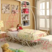 CM7705 metal twin size carriage bed