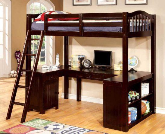 CM_BK265 Loft Bed with Workstation