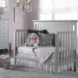 Carino Convertible Crib - Misty Grey Day Bed