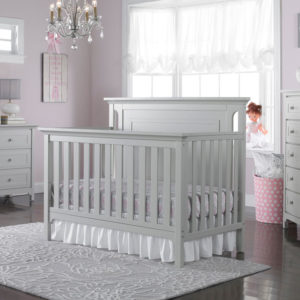 Carino Convertible Crib - Misty Grey room shot