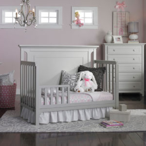 Carino Convertible Crib - Misty Grey toddler bed