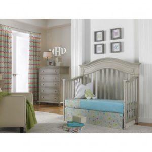 Dolce Babi Naples Convertible Crib in Grey Satin