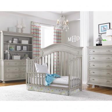 Dolce Babi Naples Convertible Crib In Grey Satin Kids Furniture In Los Angeles