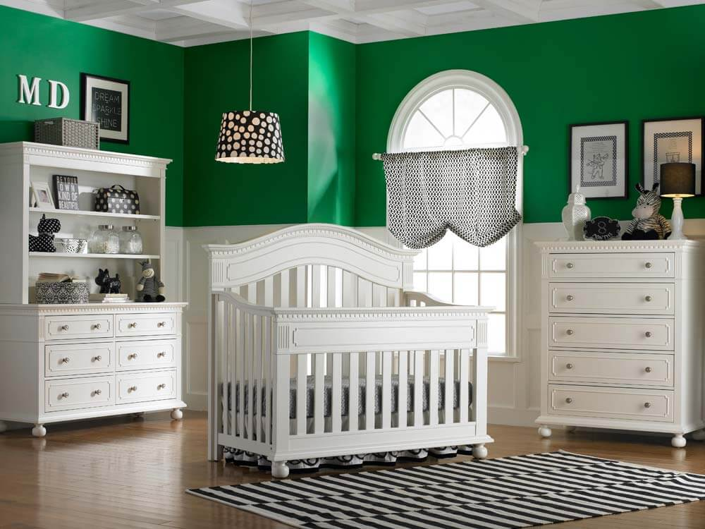 White Naples Convertible Crib Kids Only Furniture