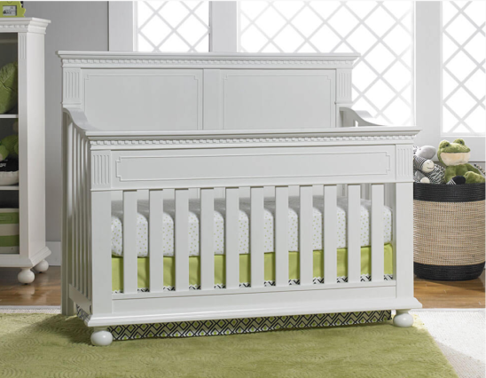Dolce Babi Naples Crib in Snow White