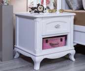 romina cleopatra nightstand in white