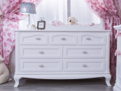 romina cleopatra 7 drawer dresser in white