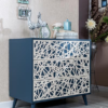 romina new york 3 drawer dresser with applique