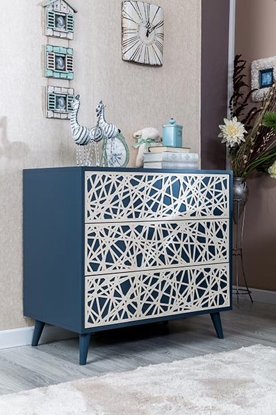 romina new york collection 3 drawer dresser
