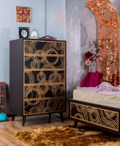 romina new york 5 drawer chest