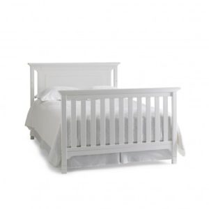 Ti Amo Carino Convertible Crib in Snow White full size solo