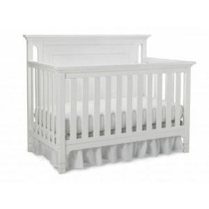 Ti Amo Carino Convertible Crib in Snow White solo