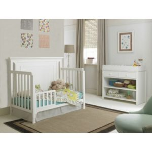 Ti Amo Carino Convertible Crib in Snow White toddler bed