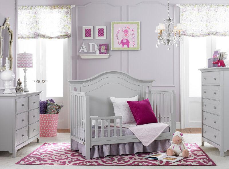 Ti Amo Catania Convertible Crib In Misty Grey Kids