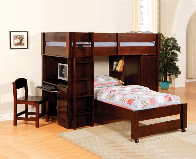 Hartford Twin Loft Bed W Bottom Bed Kids Furniture In