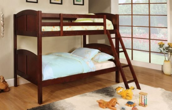 cm-bk903ch twin over twin bunk bed in cherry