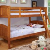 cm-bk903oak twin over twin bunk bed in oak