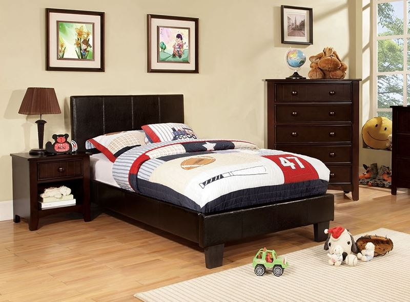 Parker Contemporary Leatherette Bed Kids Furniture In