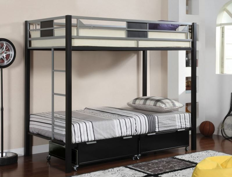 Clayton Collection Metal Bunk Bed Kids Furniture In Los