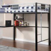 cmbk1027 twin metal loft w/workstation