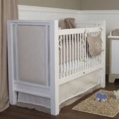 Newport Cottages Ricki Crib with Upholstered Panels