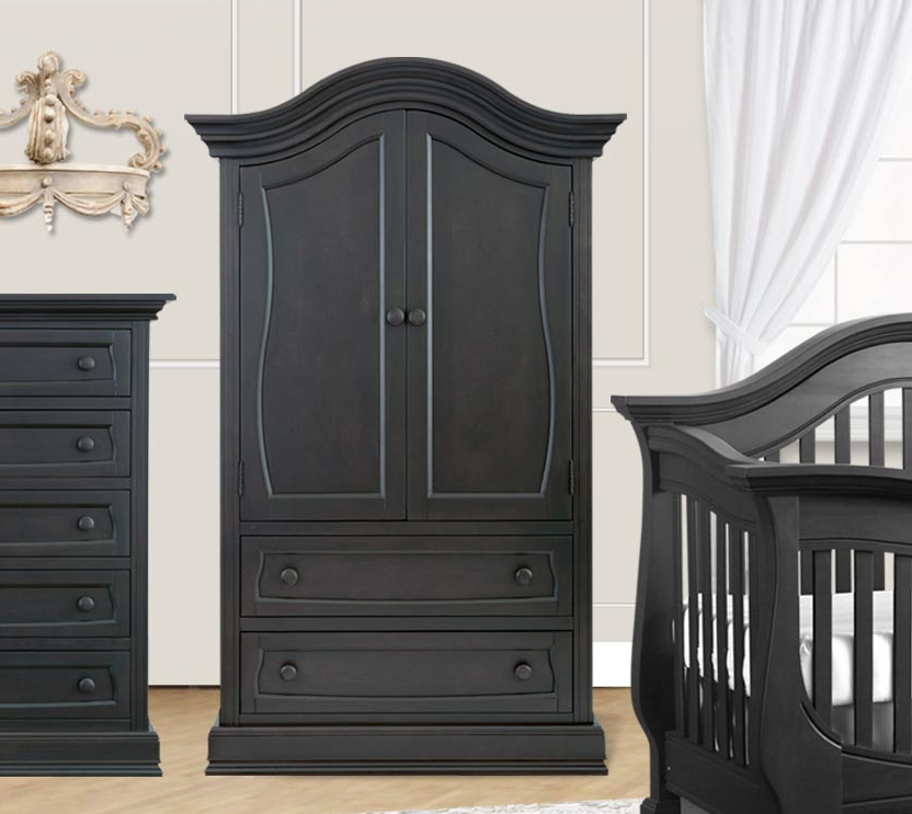 Baby Appleseed Armoire In Slate