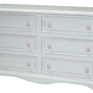 Newport Cottages Taylor 6 Drawer Dresser with Scalloped Bottom