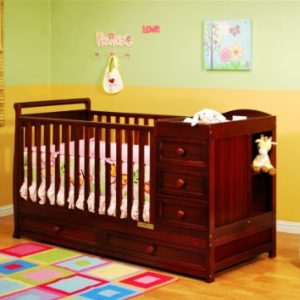AFG Daphne I 3-in-1 Convertible Crib in Cherry