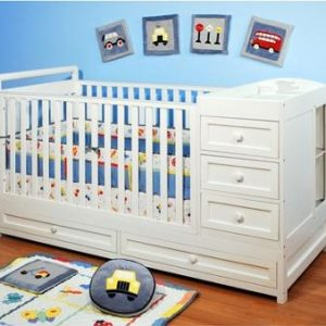 AFG Daphne I 3-in-1 Convertible Crib in White