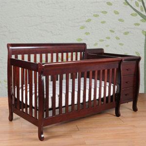 AFG Kimberly Convertible Crib in Cherry