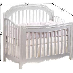 Alexa 5 in 1 Convertible Crib in Silver a