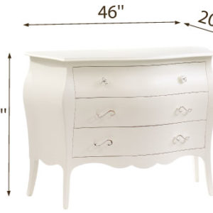 Allegra 3 Drawer Dresser A