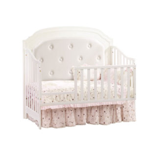 Allegra 4 in 1 Convertible Crib in French White Toddler Gate