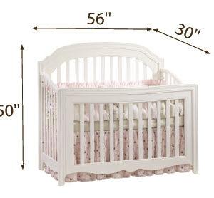Allegra 5-in-1 Convertible Crib Dimensions