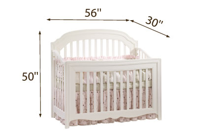 Natart Juvenile Allegra 5 In 1 Convertible Crib In French