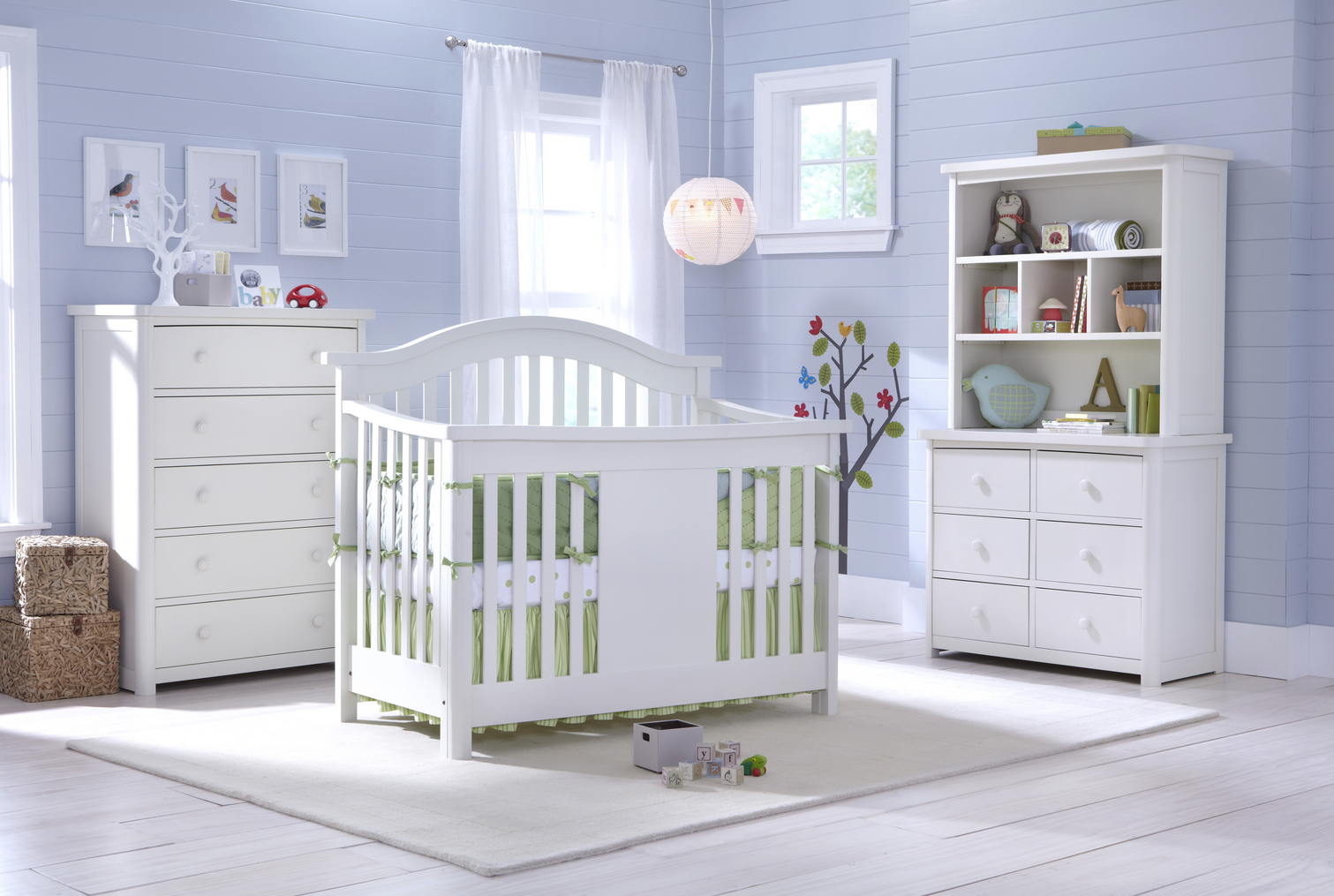 Baby Appleseed Stratford Convertible Crib (Pure White ...