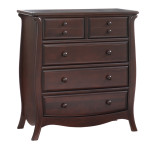 Bella 5 Drawer Chest in Cocoa