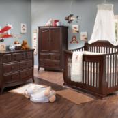 Bella 5 in 1 Convertible Crib in Cocoa Room Shot
