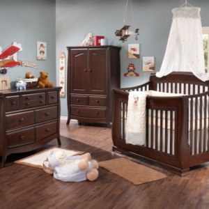 Bella 5 in 1 Convertible Crib in Cocoa Room Shot