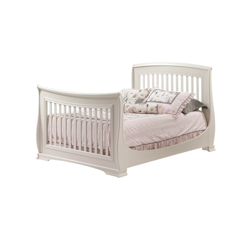 "5 Cool Cribs That Convert To Full Beds: Natart Juvenile Bella ""5-in-1"" Convertible Crib In Linen"