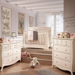 Bella 5 in 1 Convertible Crib in Linen Room Shot