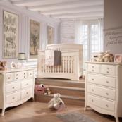 Bella 5 in 1 Convertible Crib in Linen Room Shot