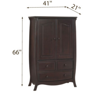 Bella Armoire in Cocoa Dimensions