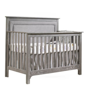 Emerson 5-in-1 Convertible Crib Upholstered Panel Fog